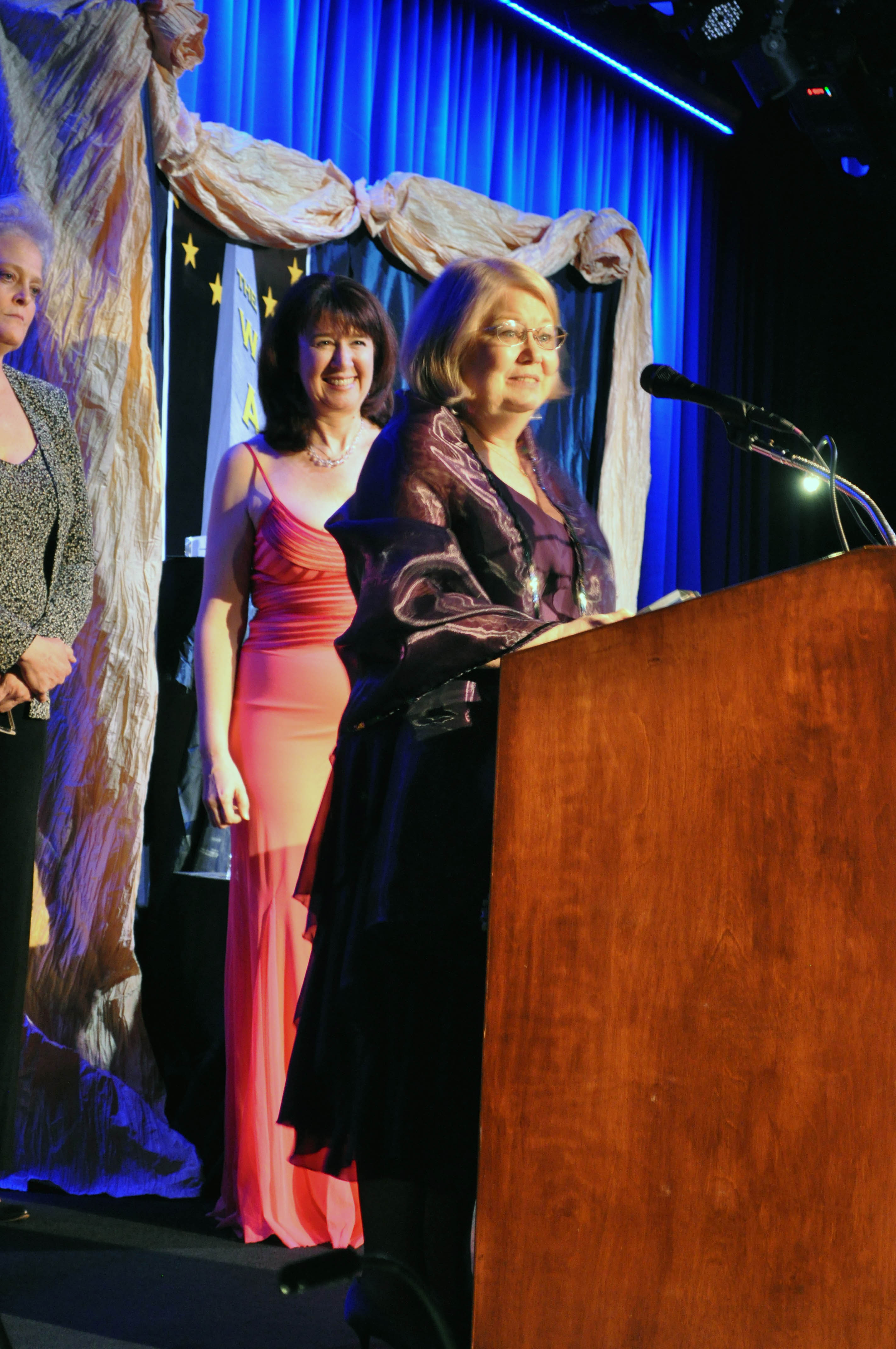 """Beth Harrison Accepting One of Her Two WATCH Awards for """"You Can't Take It With You"""""""