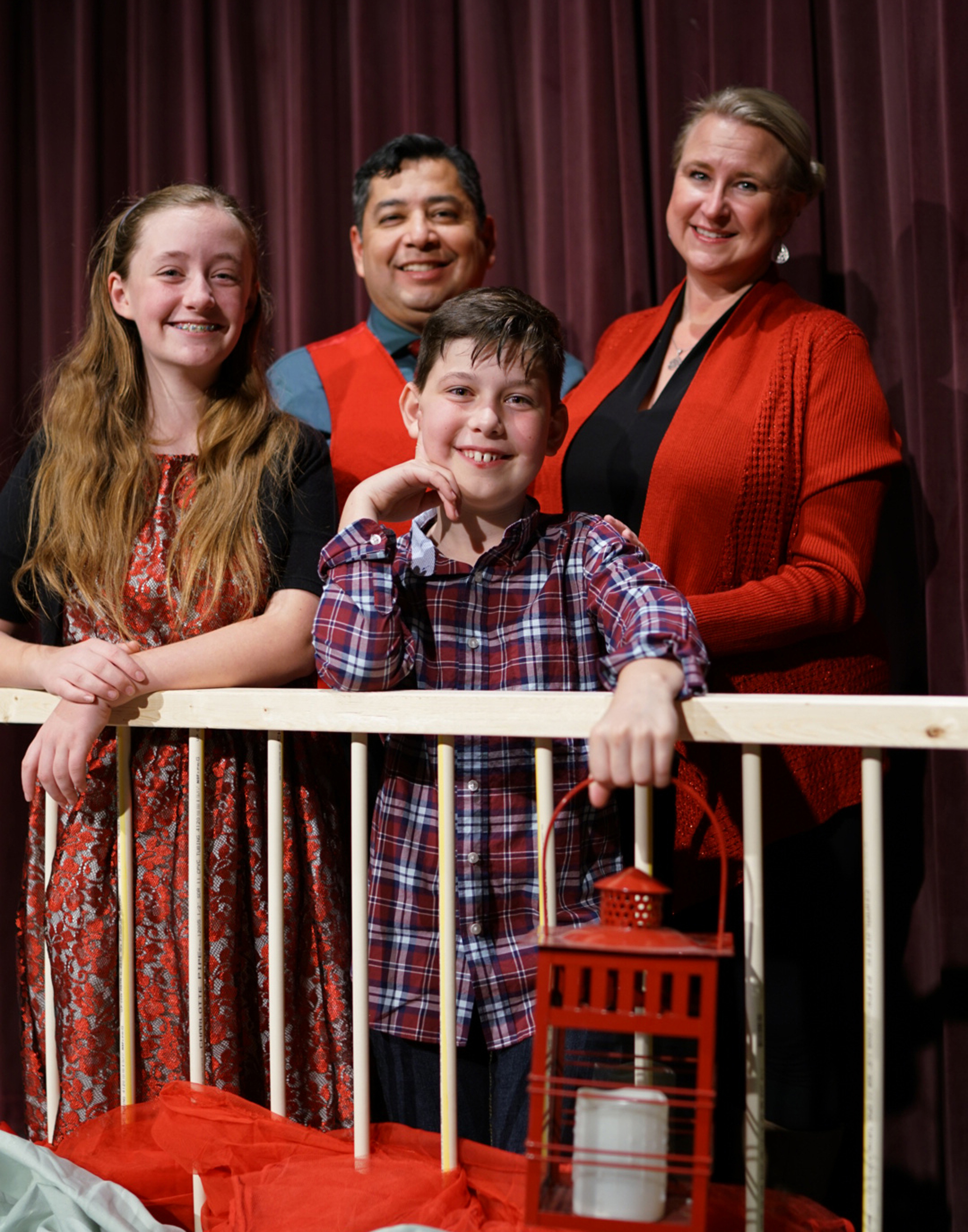 The Bradley family in the Providence Players production of The Best Christmas Pageant Ever. Photo by Rob Cuevas, Providence Players