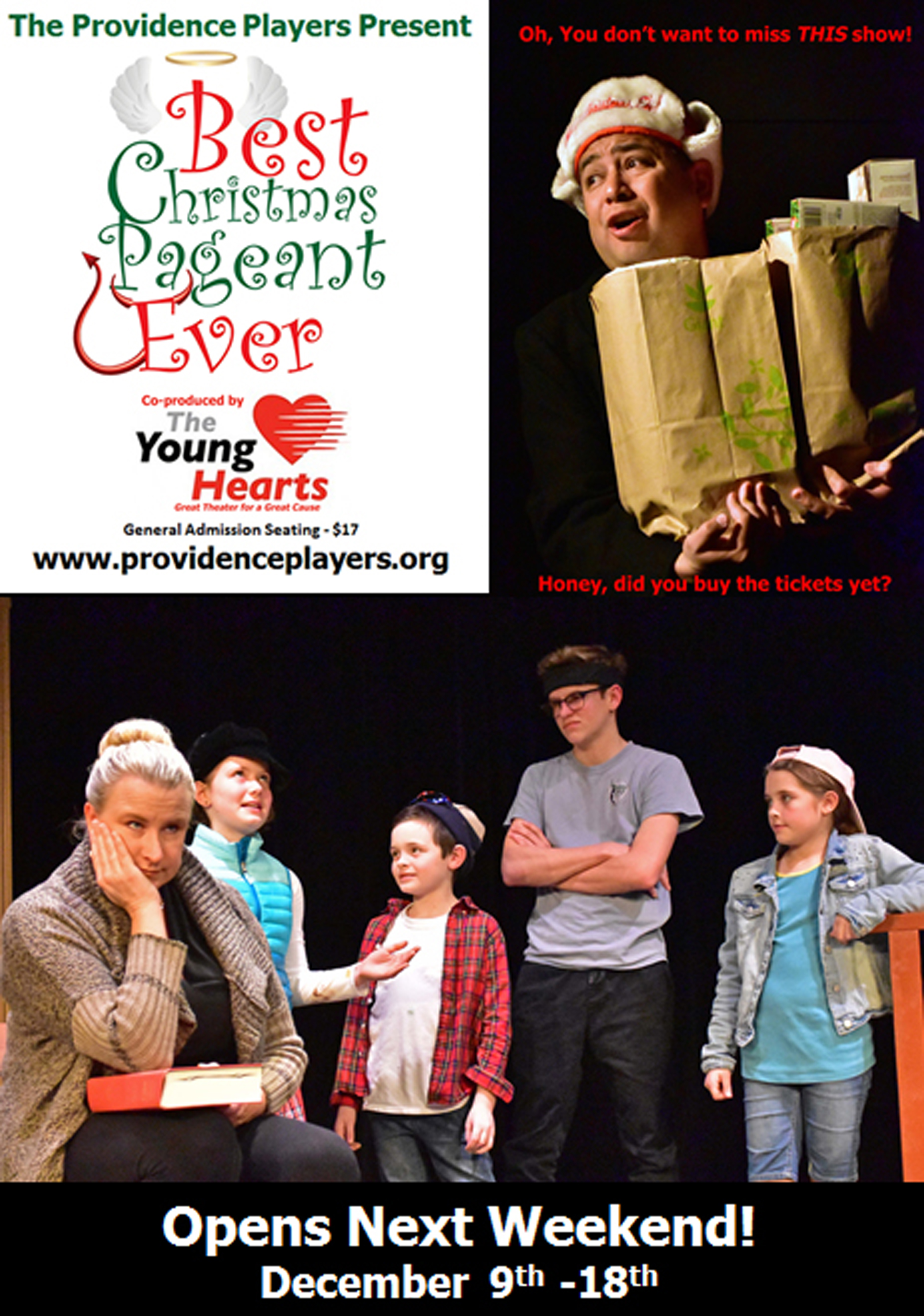 """The Best Christmas Pageant Ever""""- Four Days to Opening on 12-9-16 ..."""