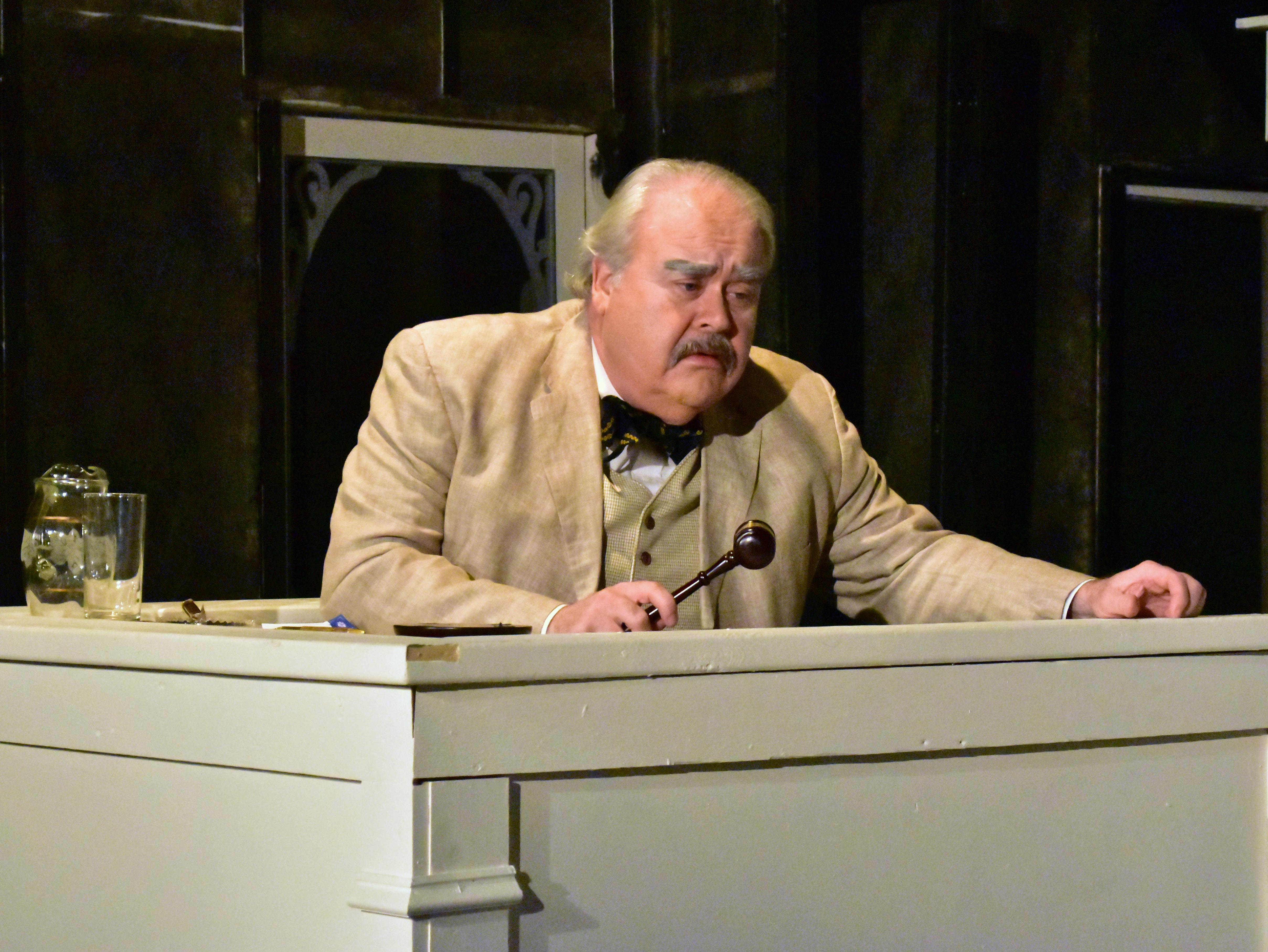 Kevin Harnisch as Judge Taylor in the PPF Production of To Kill a Mockingbird Photo by Chip Gertzog Providence Players