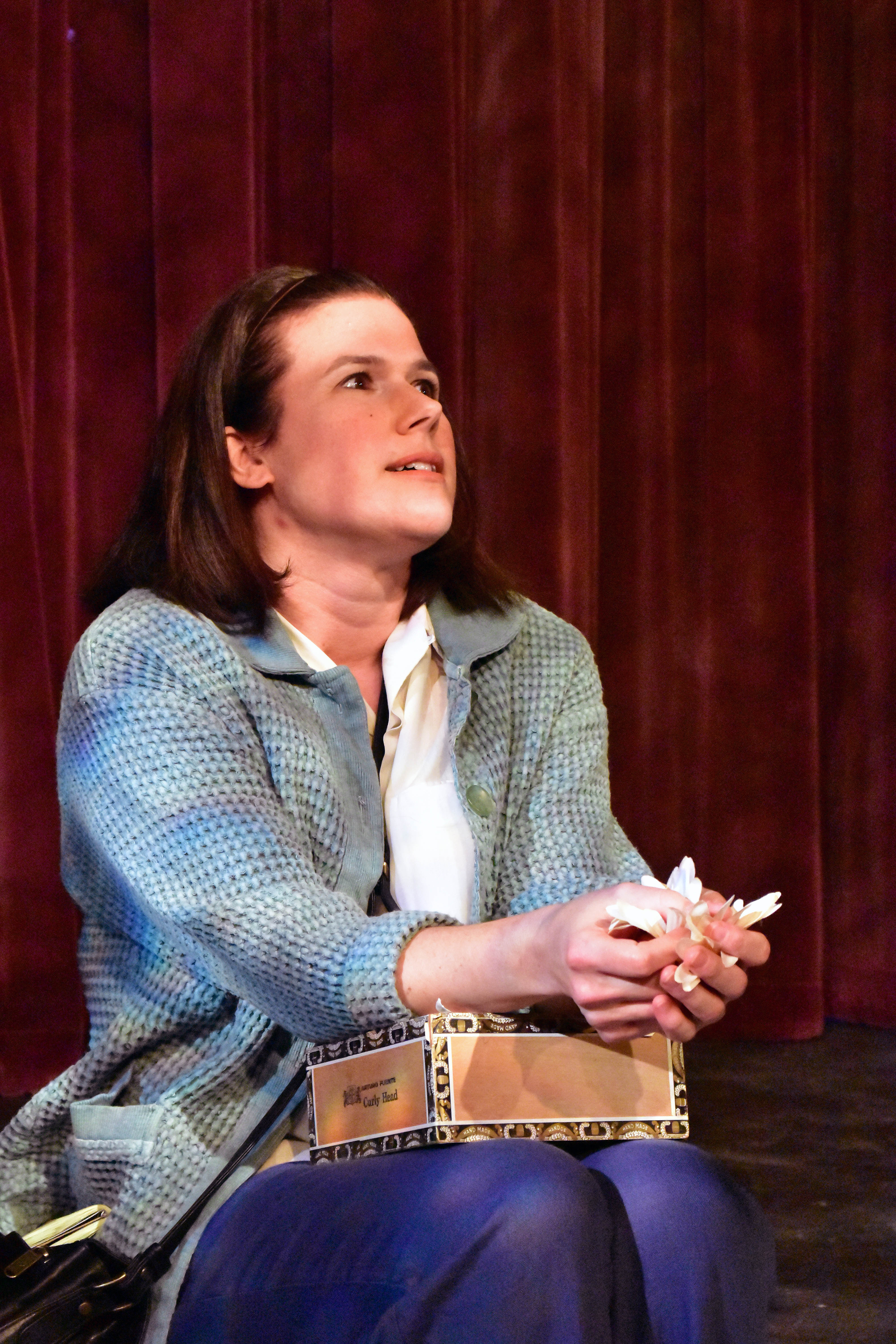 Kristin Wahlne as Harper Lee in To Kill a Mockingbird Photo by Chip Gertzog Providence Players