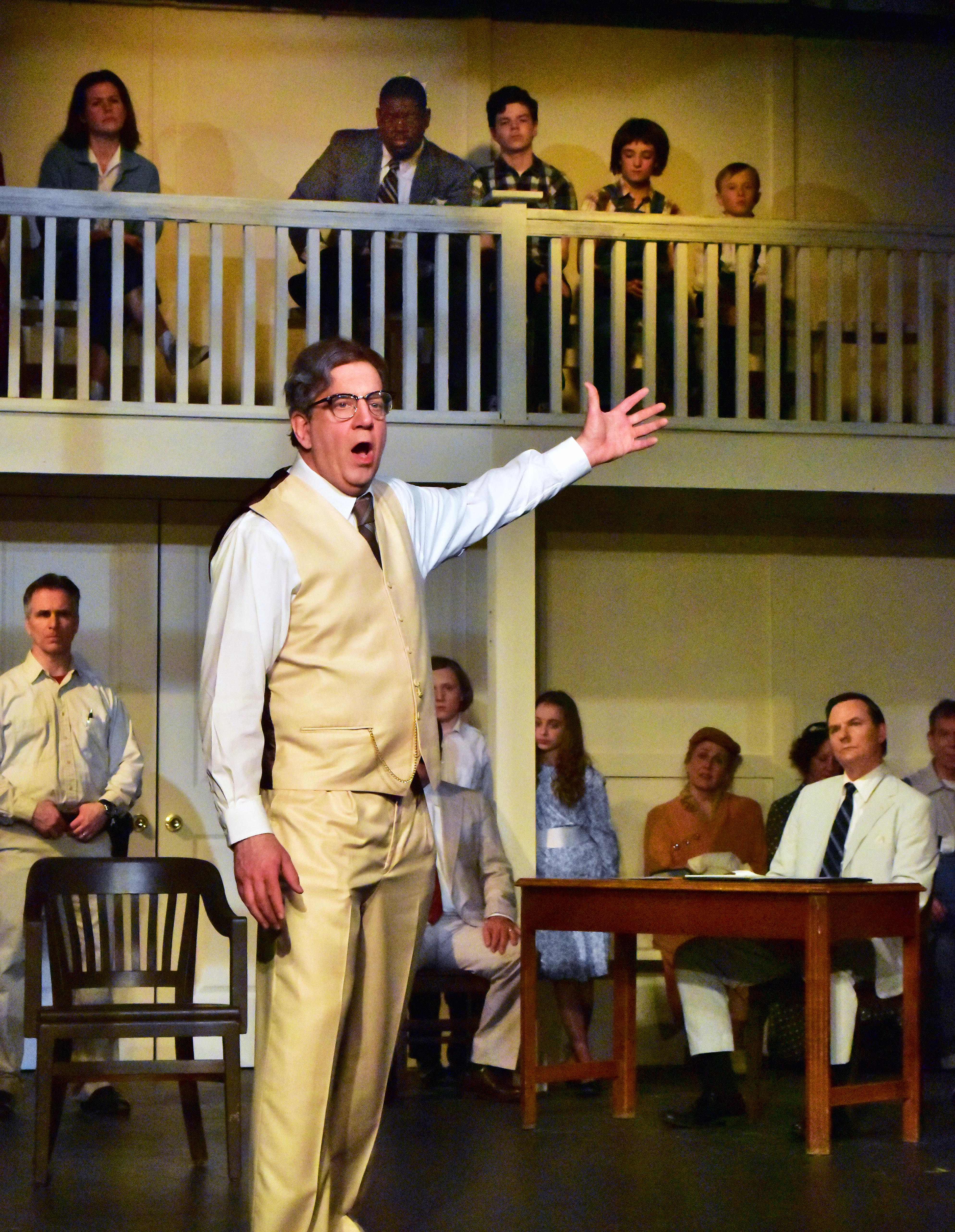 Robert Heinly is Atticus Finch in the Providence Players production of To Kill a Mockingbird photo by Chip Gertzog Providence Players
