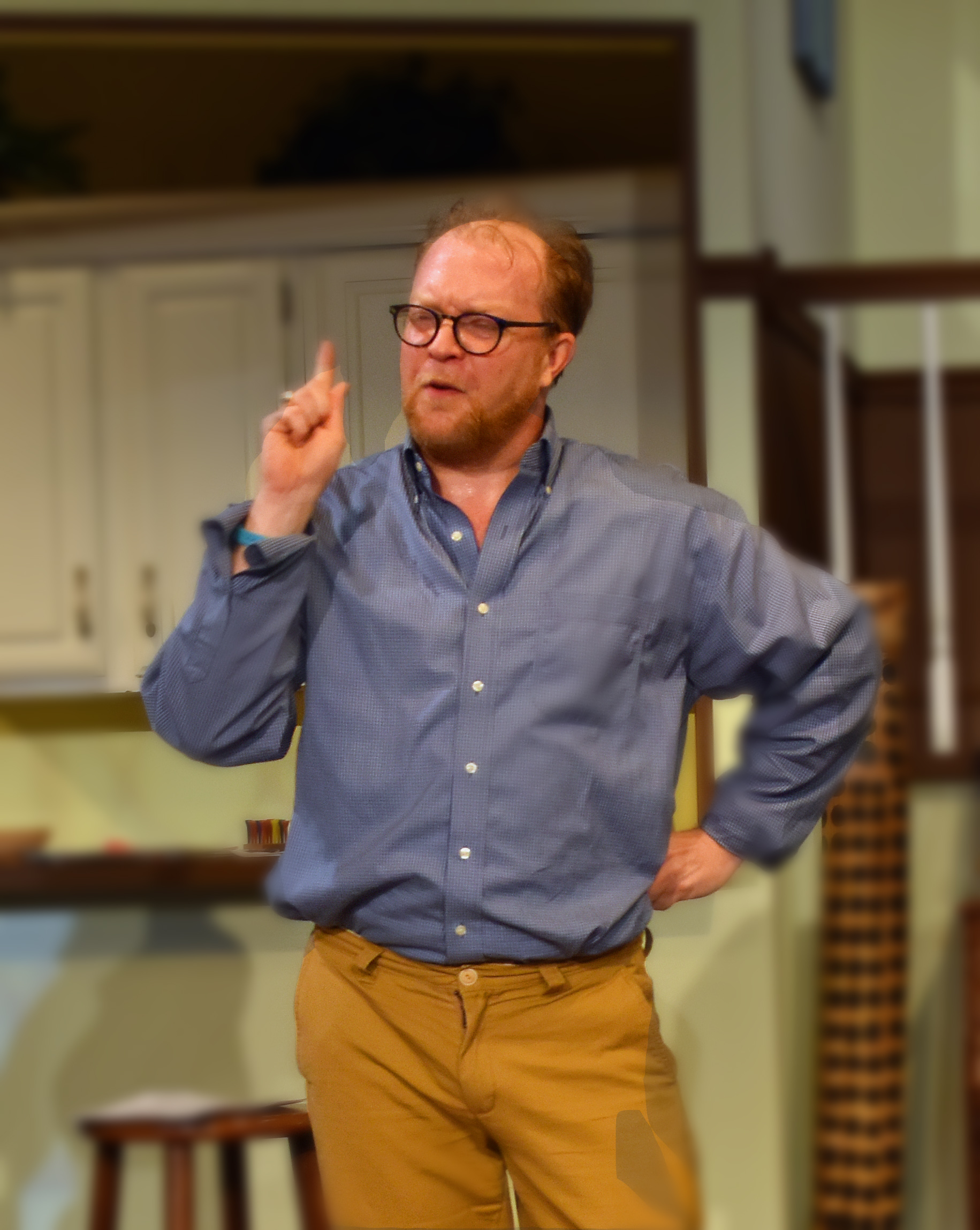 Christian Faulkner as Vanya Photo by Chip Gertzog Providence Players 2