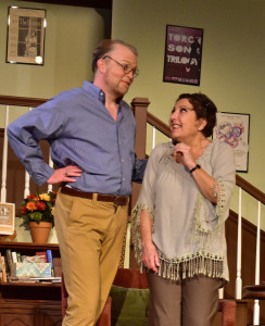 "Christian Faulkner and Jayne L. Victor in ""Vanya and Sonia and Masha and Spike"""