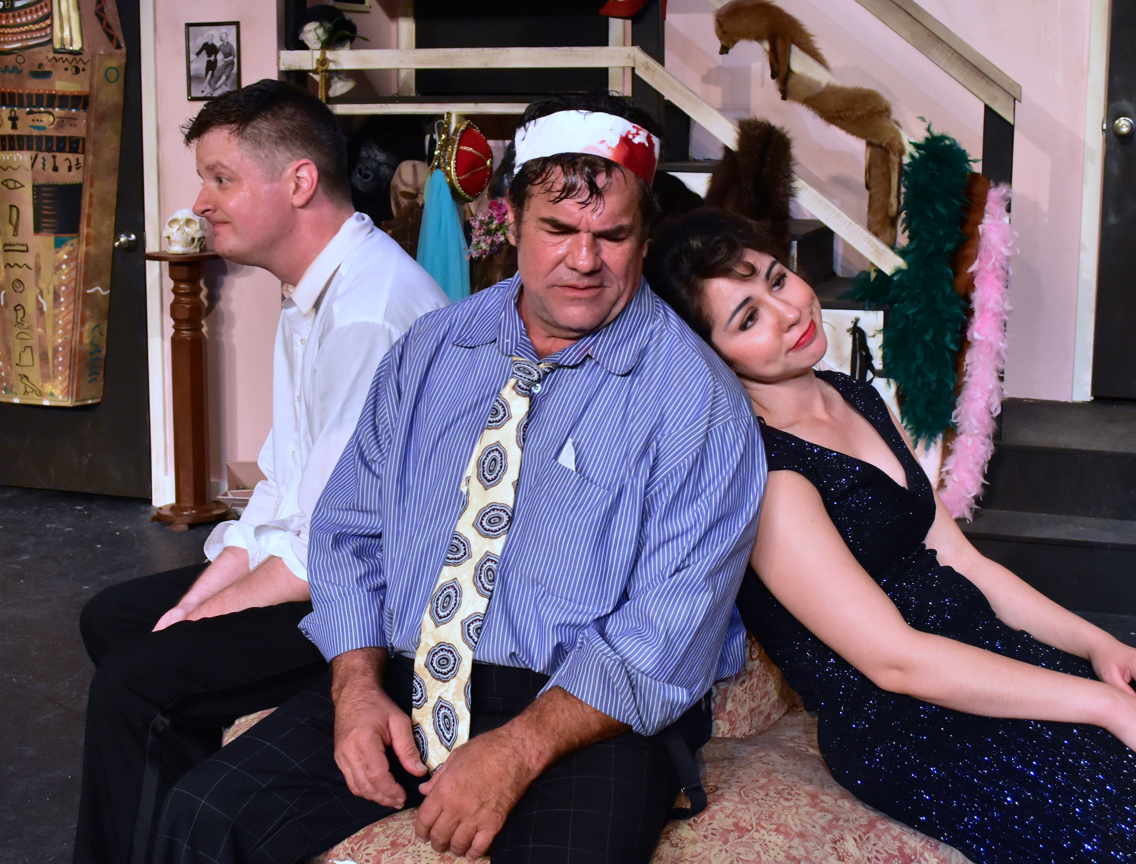"Chuck O'Toole, Michael Donahue and Jenny Madorsky in the Providence Players Production of ""Moon Over Buffalo"". Photo By Chip Gertzog Providence Players"
