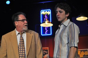 Image: John Coscia as Gene Glimmer and Ari Post as his son Clifford in the Providence Players Production of Side Man.