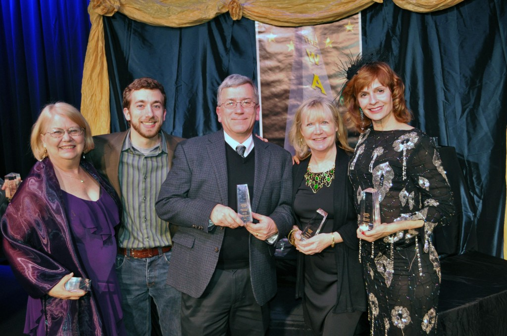 Beth Harrison, Jimmy Gertzog , Chip Gertzog, PPF President, Janet Bartelmay, and Lisa Church at the 2012 Washington Area Community Theatre Honors Awards