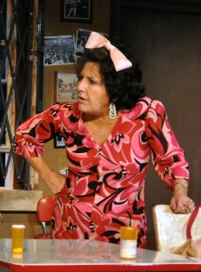 Jayne Victor as Bunny Flingus in PPF's House of Blue Leaves-Photo by Chip Gertzog