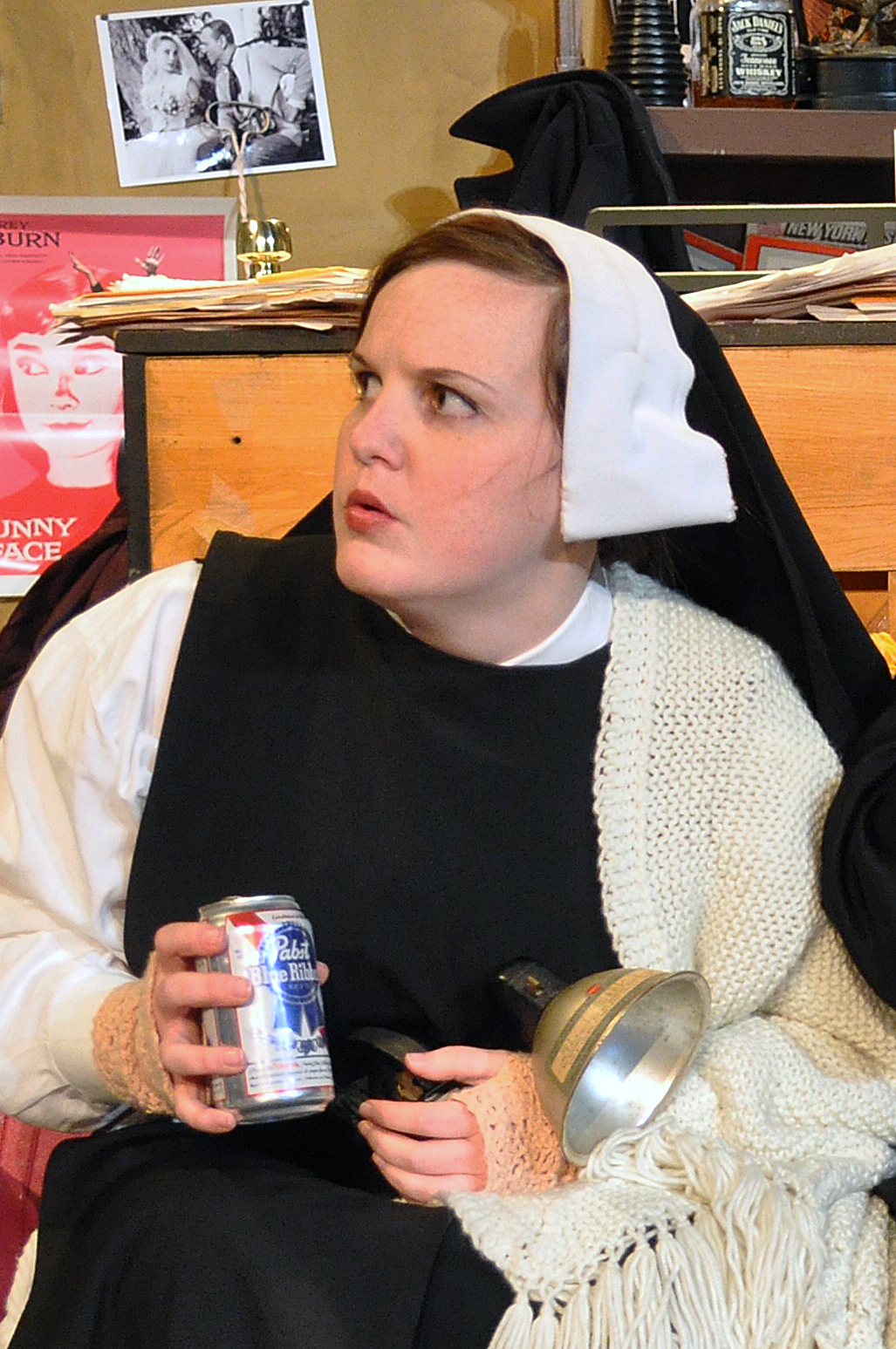 Courtney Fonnesbeck as The Little Nun in PPF's House of Blue Leaves-Photo By Chip Gertzog