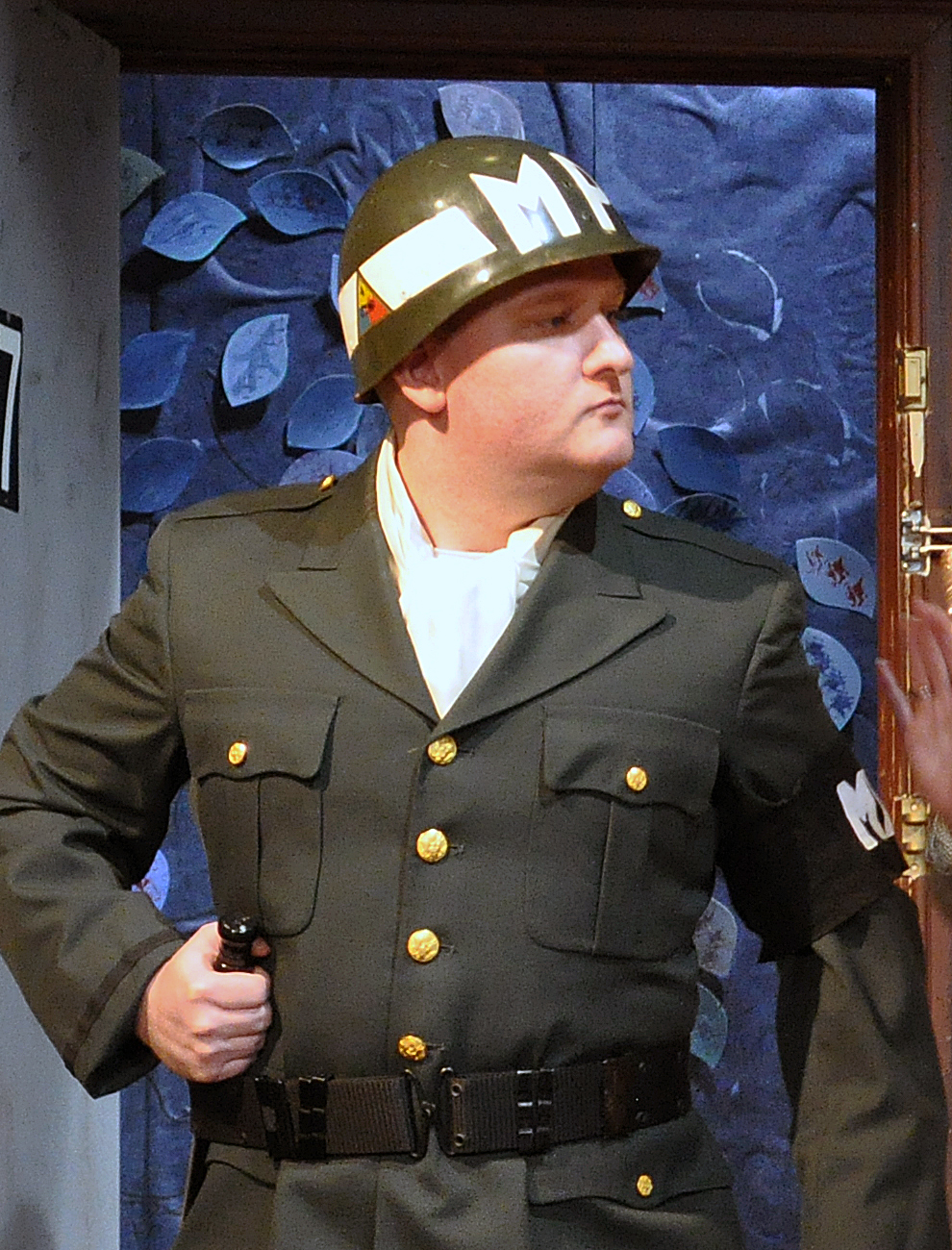Zachary Todd as The MP in PPF's House of Blue Leaves-Photo by Chip Gertzog
