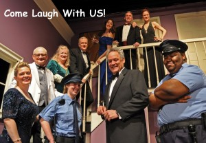 Providence Players Cast of Neil Simon's Rumors-Photo by Chip Gertzog