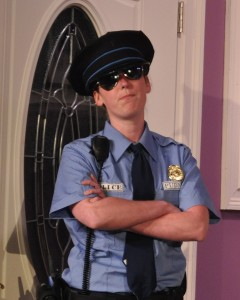 Lauren Sullivan as Officer Pudney Photo by Chip Gertzog Providence Players