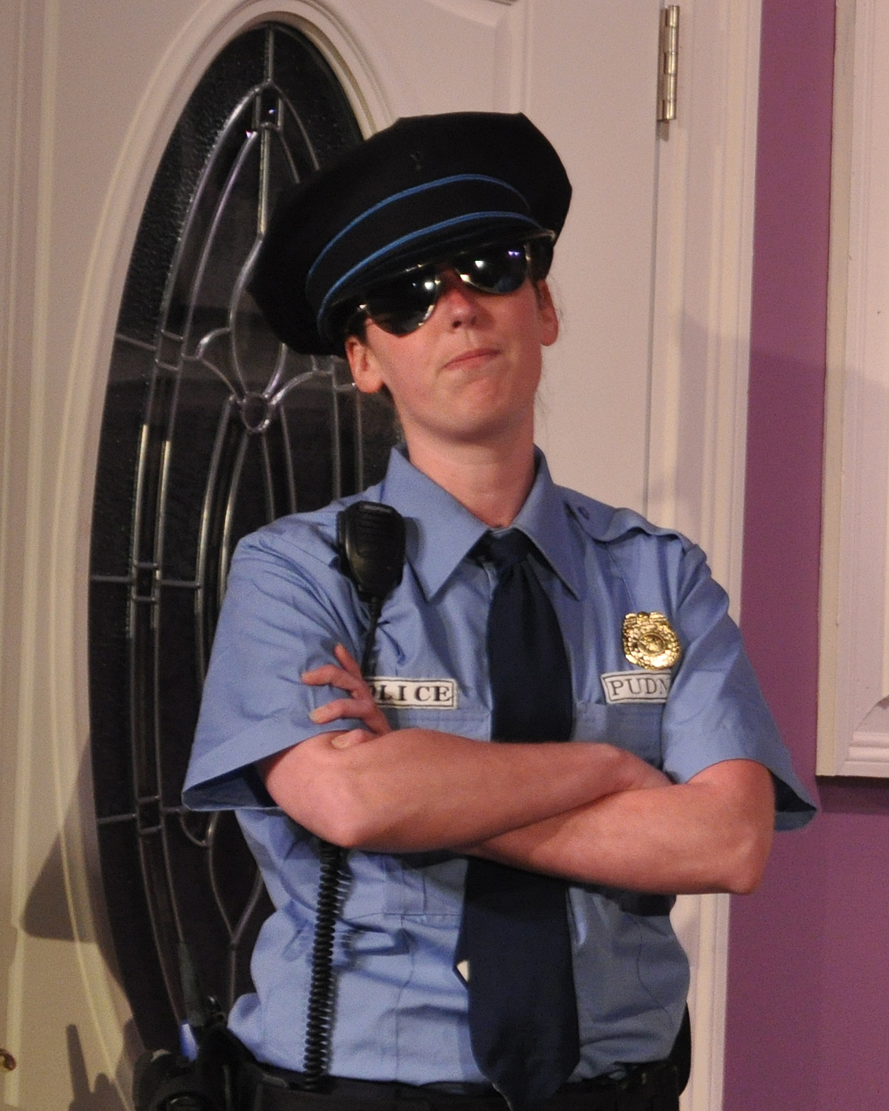 Lauren Sullivan as Officer Pudney - 2014 Best Featured Actress in a Play - DCMTA Photo by Chip Gertzog Providence Players