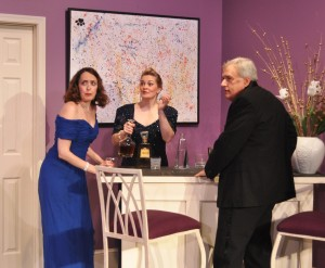 Andra Whitt, Charlene Sloan and Don Myers in Rumors Photo By Chip Gertzog