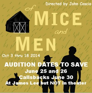 PPF Audition Save The Dates For Of Mice and Men
