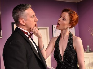 Zell Murphy and Roxanne Waite as Glen and Cassie Cooper in Rumors-Providence Players Photo by Chip Gertzog