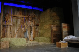 Of Mice and Men Set-The Barn - Photo by Chip Gertzog Providence Players