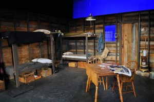Of Mice and Men Set- The Bunk House - Photo by Chip Gertzog Providence Players