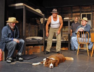 "A scene from the Providence Players production of ""Of Mice and Men"" - Photo by Chip Gertzog Providence Players"