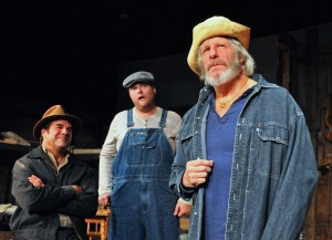 "Front: David James gives an outstanding performance as ""Candy"" in the PPF Production of ""Of Mice and Men"" Photo by Chip Gertzog"