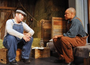 Left Kyle Keene as Lenny. Right Stephan Olbina as Crooks (Photo By Chip Gertzog)