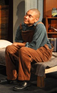 Stephan Olbina as Crooks -Providence Players Of Mice and Men Photo By Chip gertzog