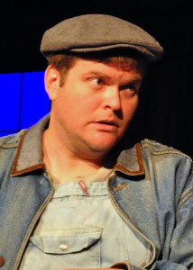 Kyle Keene as Lenny in Of Mice and Men by The Providence Players Photo By Chip Gertzog