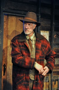 Mike Mattheisen as the stoic Boss in Providence Players' Of Mice and Men Photo by Chip Gertzog