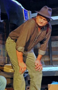 Craig Geoffrion as Carlson in the Providence Players' Of Mice and Men Photo by Chip Gertzog