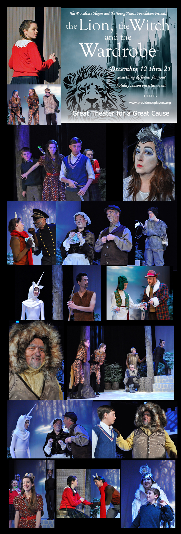 PPF Lion Witch and Wardrobe 12-8-14 Montage - Photos by Chip Gertzog and Bill Ownes