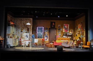 "The Set of ""The House of Blue Leaves"" - Photo By Chip Gertzog Providence Players"