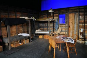 Of Mice and Men Set- The Bunk House Photo By Chip Gertzog Providence Players