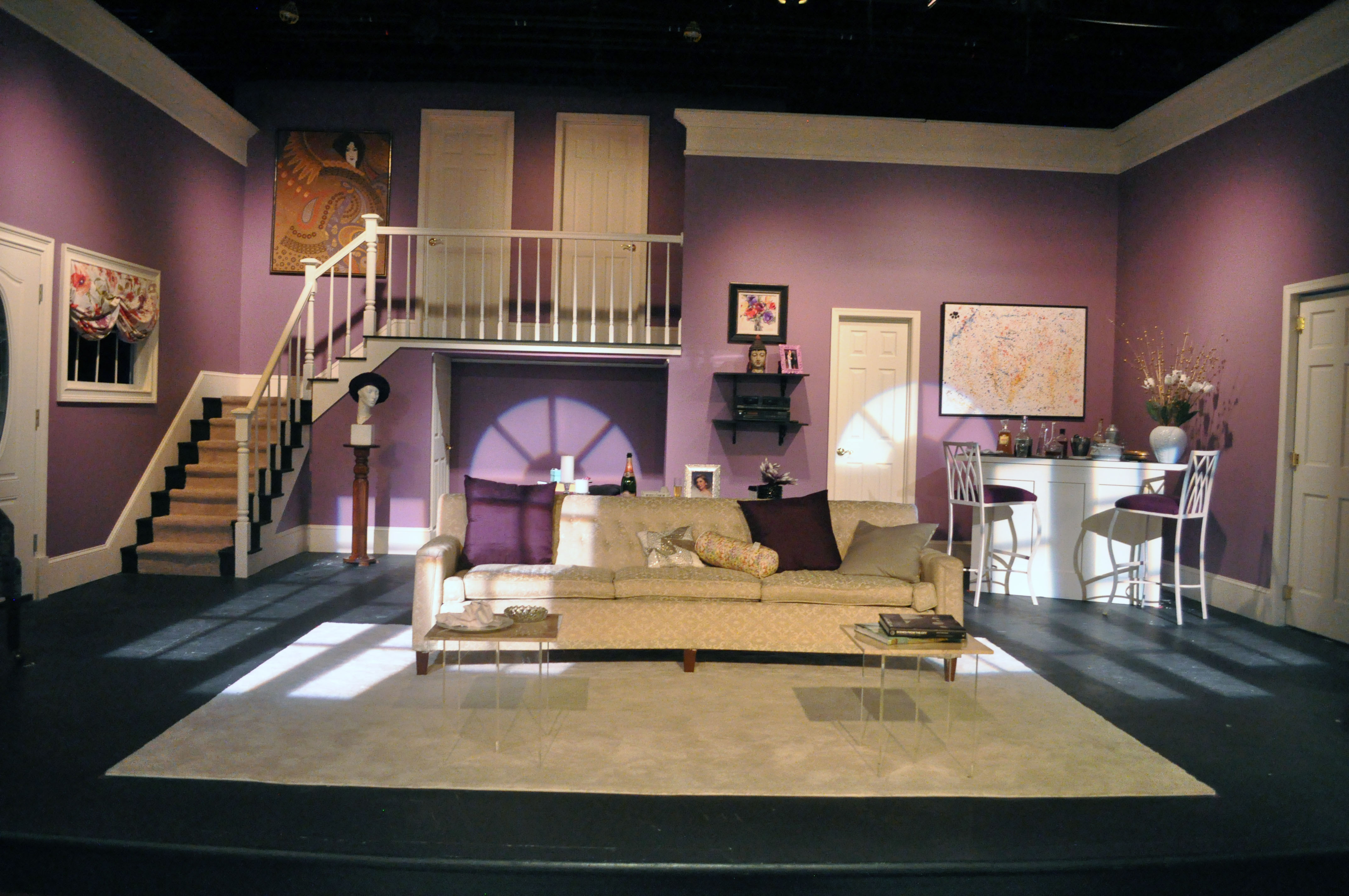 The Set of PPF's Rumors - 2014 Best Scenic and Lighting Design - DCMTA Photo by Chip Gertzog Providence Players