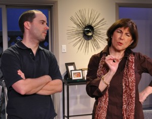 "Bobby Welsh and Tina Thronson in  the Providence Players ""Other Desert Cities""  - Photo By Chip Gertzog Providence Platyers"