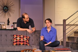 Bobby Welsh as Trip and Andra Whitt as Brooke are compelling and natural on stage in Providence Players Other Desert Cities Photo by Chip Gertzog Providence Players
