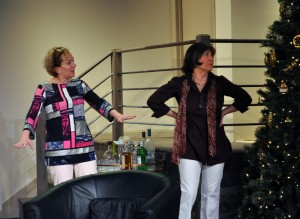 Barbara Gertzog and Tina Thronson on stage in Other Desert Cities - Photo by Chip Gertzog Providence Players