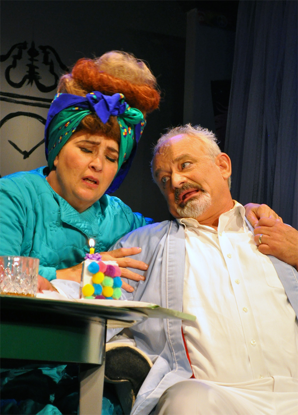 Beth Whitehead and Craig Geoffrion in the Providence Players production of The Glass Mendacity-Photo by Chip Gertzog Providence Players