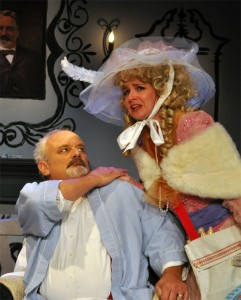 "Craig Geoffrion and Elizabeth Keith will make you laugh in 'The Glass Mendacity"" Photo by Chip Gertzog Providence Players"