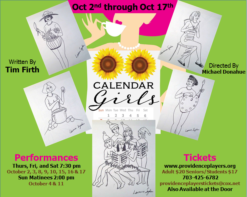 Providence Players calendar Girls