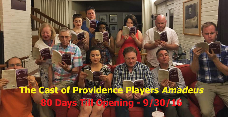 The Cast of Providence Players Amadeus 7-12-16