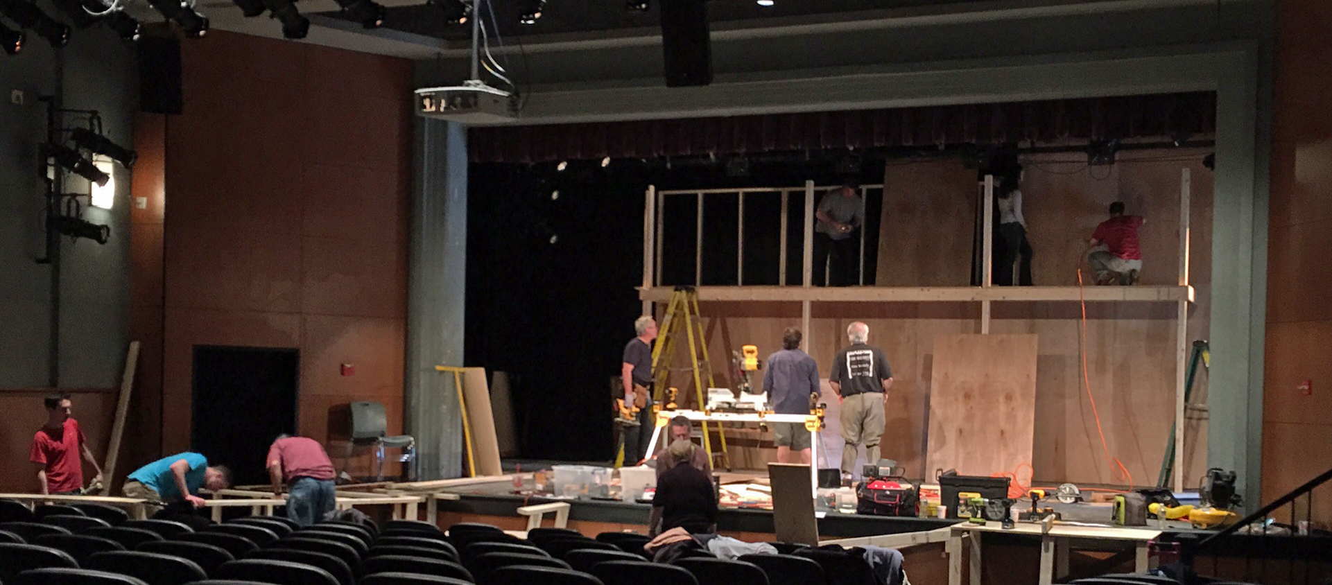 To Kill a Mockingbird set construction-Photo by Chip Gertzog, Providence Players