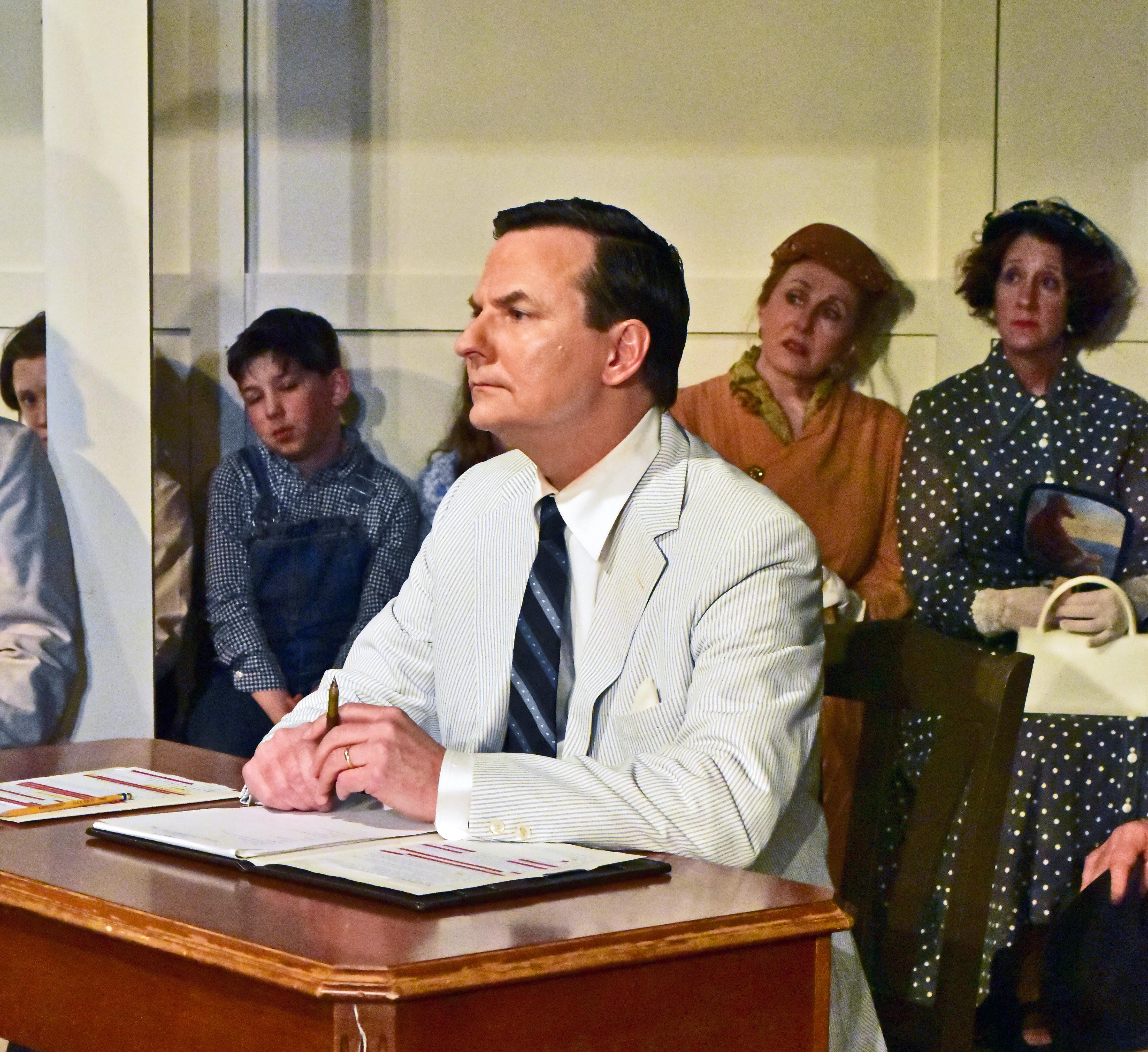 Chris Persil as Prosecutor Gilmer in To Kill a Mockingbird-Photo by Chip Gertzog Providence Players