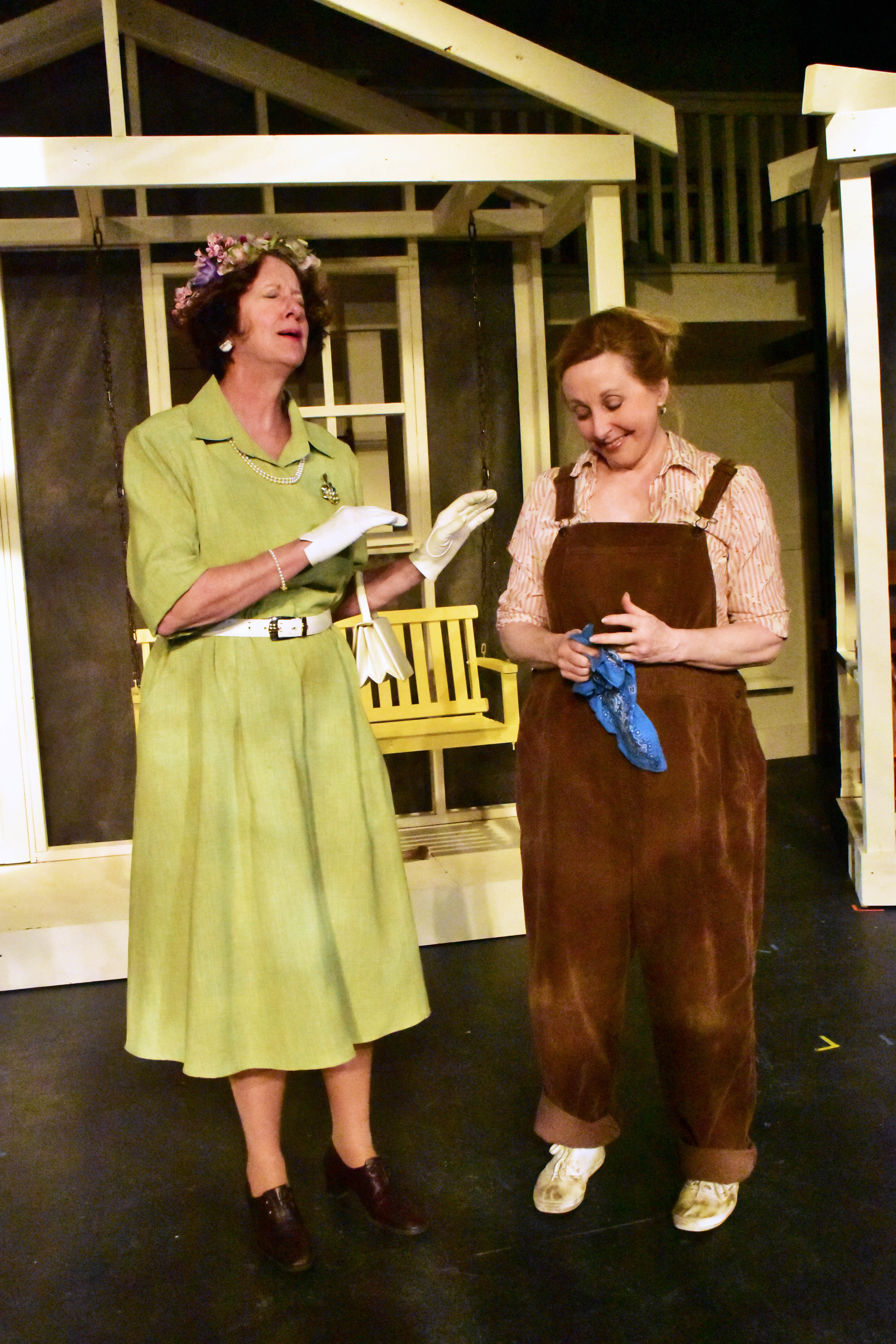 Robey Manno and Janet Kohler Dueweke in To Kill a Mockingbird Photo by Chip Gertzog Providence Players