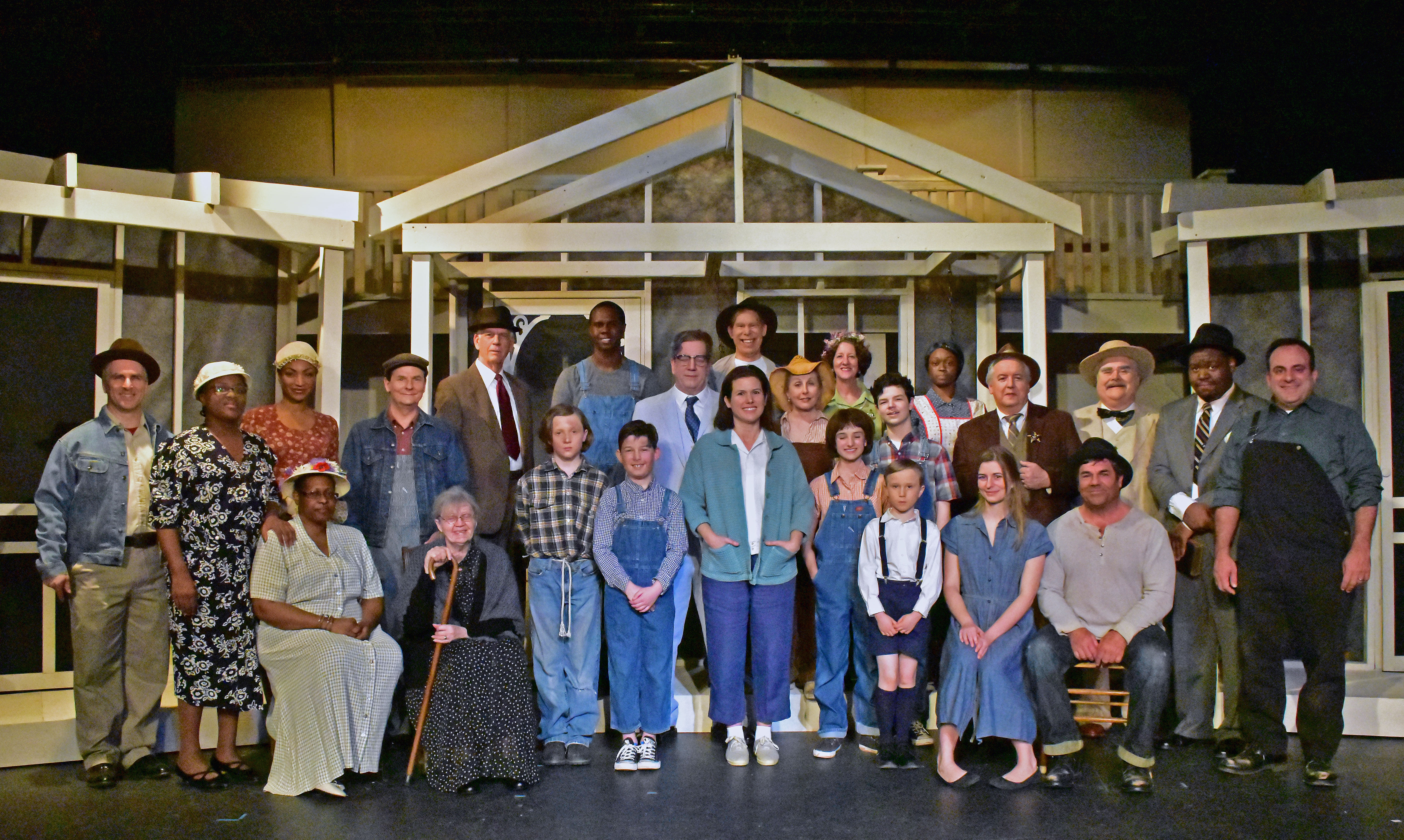 The Cast of Providence Players To Kill a Mockingbird Photo by Chip Gertzog Providence Players