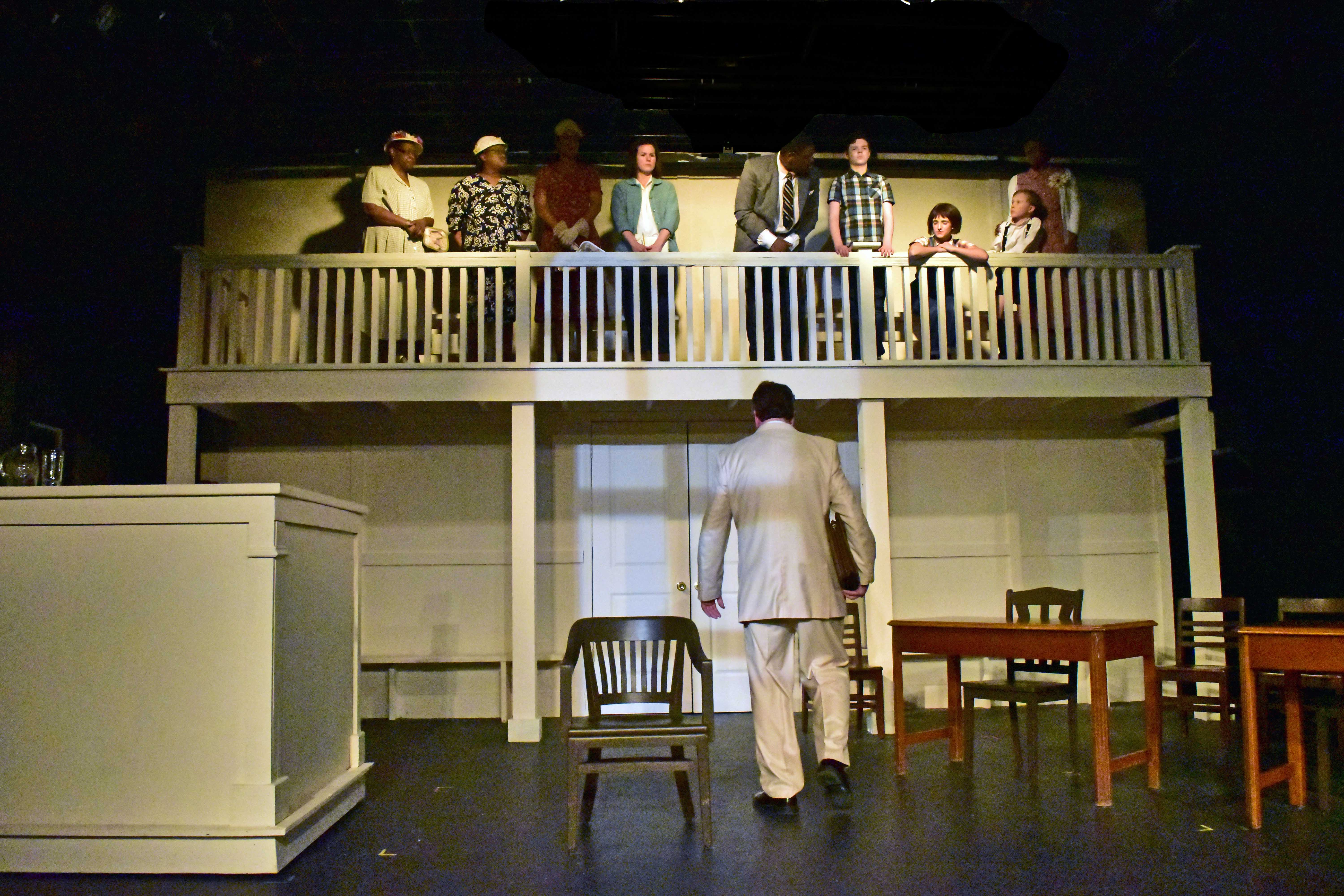 The Set of the Providence Players To Kill a Mockingbird by Ingrid and Patrick David Courtroom Photo by Chip Gertzog Providence Players