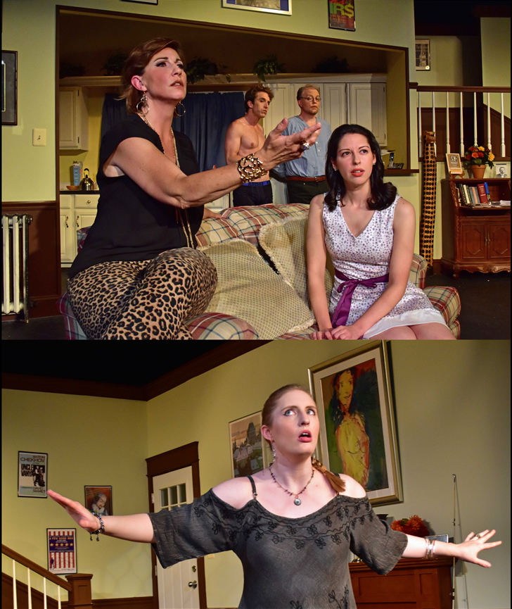 Vanya and Sonia and Masha and Spike, Christopher Durang's hit comedy on stage from the Providence Players June 2 through June 17. Photo by Chip Gertzog Providence Players